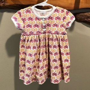 Hanna Andersson floral / heart dress - 18-24 Month